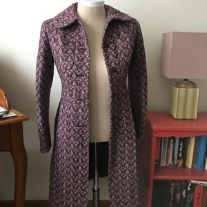 Moda International purple wool-blend pea coat